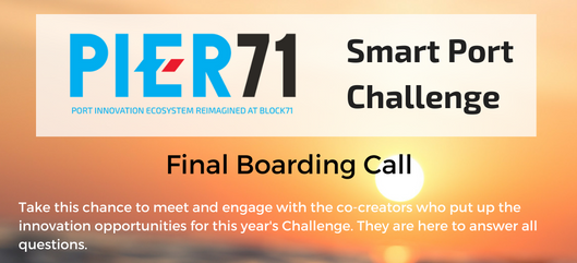 Final Boarding Call for Smart Port Challenge 2018