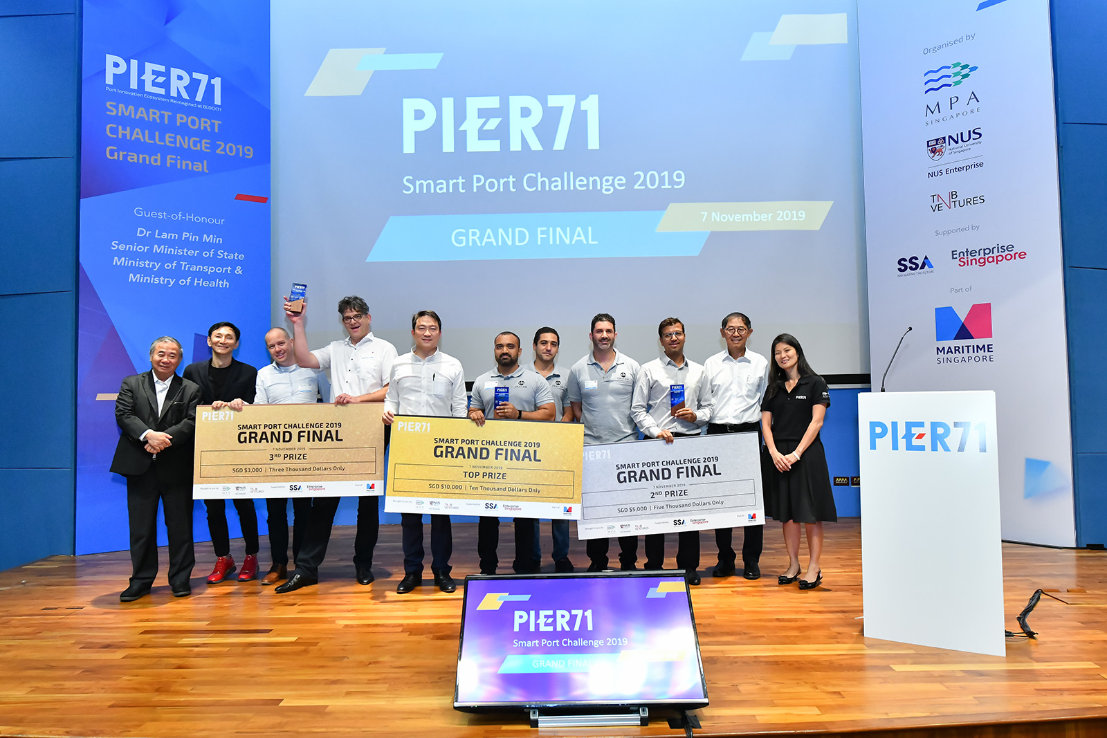 PIER71 Unveils Top Three Start-ups Reimagining the Maritime Industry at the 2019 Smart Port Challenge Grand Final
